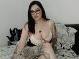 Sexy webcam show met inkedbabe